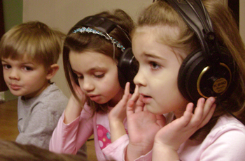 kids with headsets